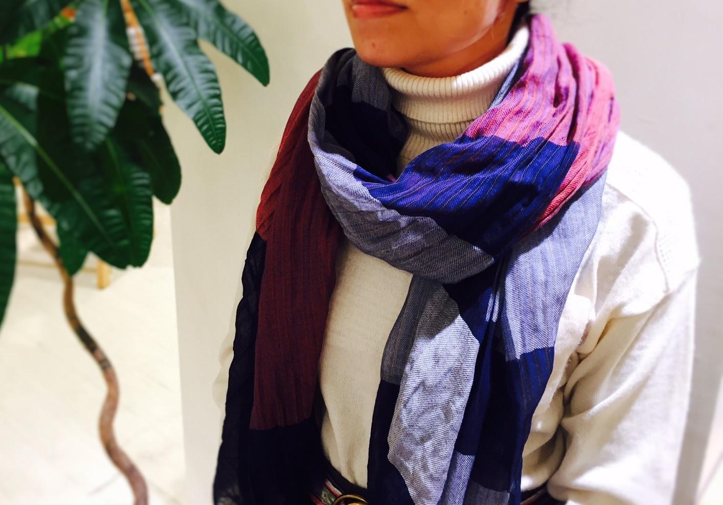 秋冬の首元に。播州織ストール 新色入荷のお知らせです^^_e0295731_15080997.jpg