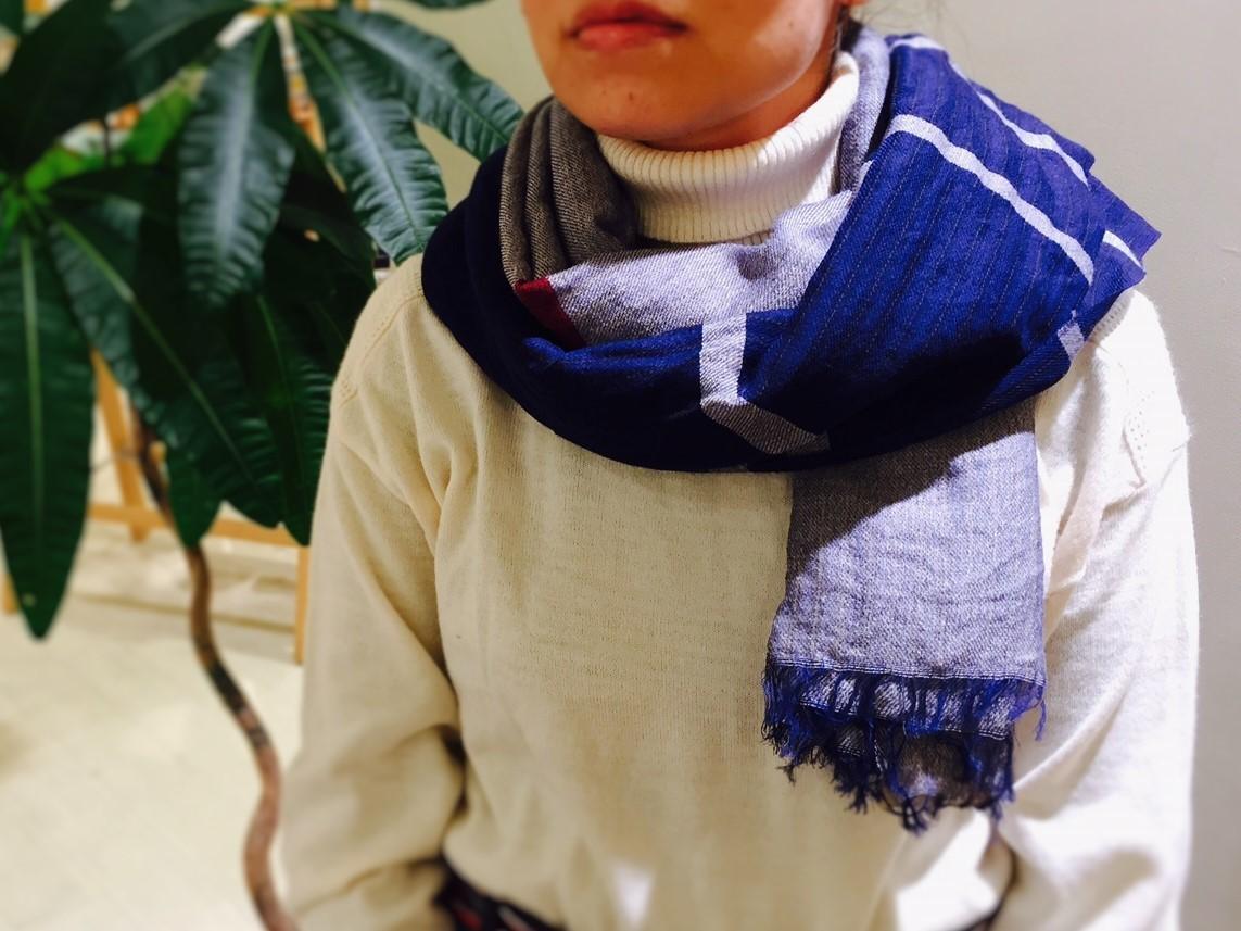 秋冬の首元に。播州織ストール 新色入荷のお知らせです^^_e0295731_15580462.jpg