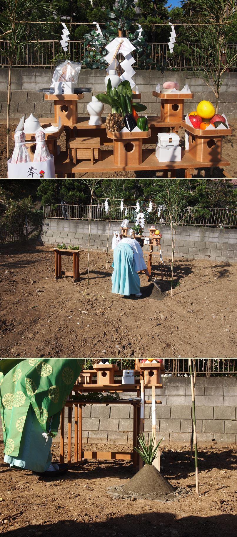 横浜市南区の家☆地鎮祭が執り行われました!_c0152341_10202351.jpg