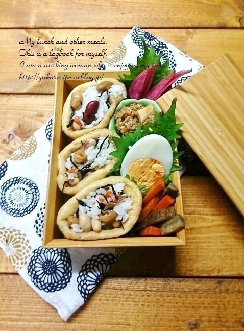 11.20 ひじき煮稲荷寿司弁当&頂きもの_e0274872_05333077.jpg