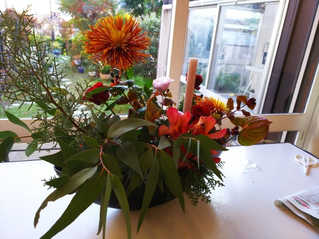 神戸から、Christmas Flower arrangement_a0098174_21215806.jpg