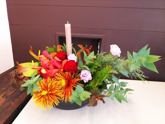 神戸から、Christmas Flower arrangement_a0098174_22094652.jpg