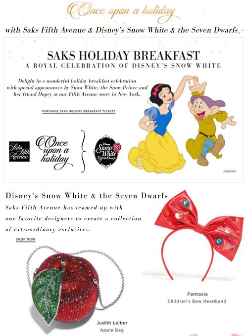 NYのSaks Fifth AvenueとDisneyが『白雪姫』生誕80周年記念ホリデー・ウィンドウで史上初コラボ!!!_b0007805_9203289.jpg