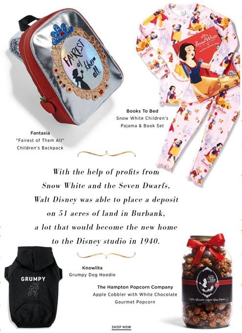 NYのSaks Fifth AvenueとDisneyが『白雪姫』生誕80周年記念ホリデー・ウィンドウで史上初コラボ!!!_b0007805_92219100.jpg