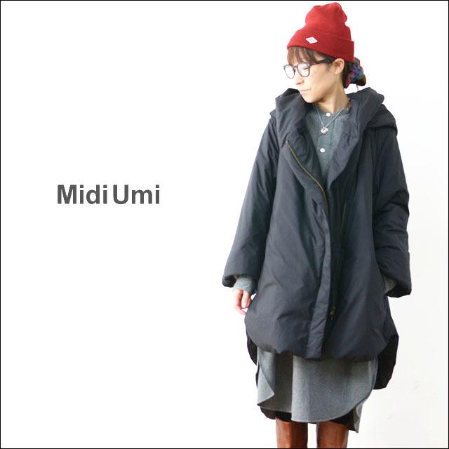 MidiUmi [ミディウミ] DOWN HOODED COAT [3-773808] ダウンコート アウター 羽織 LADY\'S _f0051306_16515237.jpg