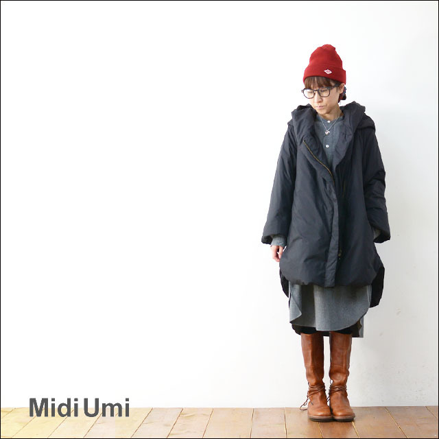 MidiUmi [ミディウミ] DOWN HOODED COAT [3-773808] ダウンコート アウター 羽織 LADY\'S _f0051306_16520145.jpg