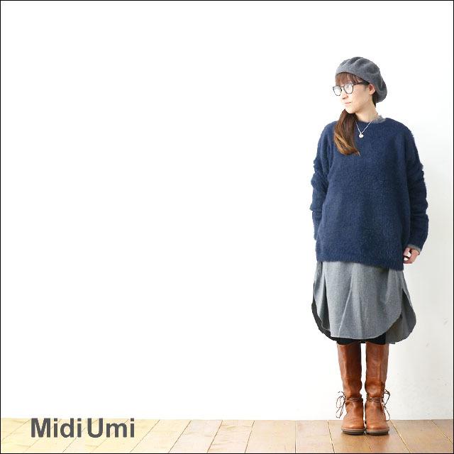 MidiUmi [ミディウミ] SHAGGY P/O [3-724055] シャギープルオーバー ニット LADY\'S _f0051306_16585468.jpg