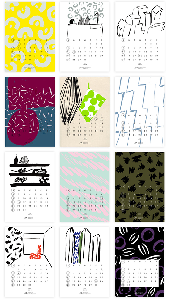 サトウアサミさんの2018年カレンダー_d0193211_201526.jpg