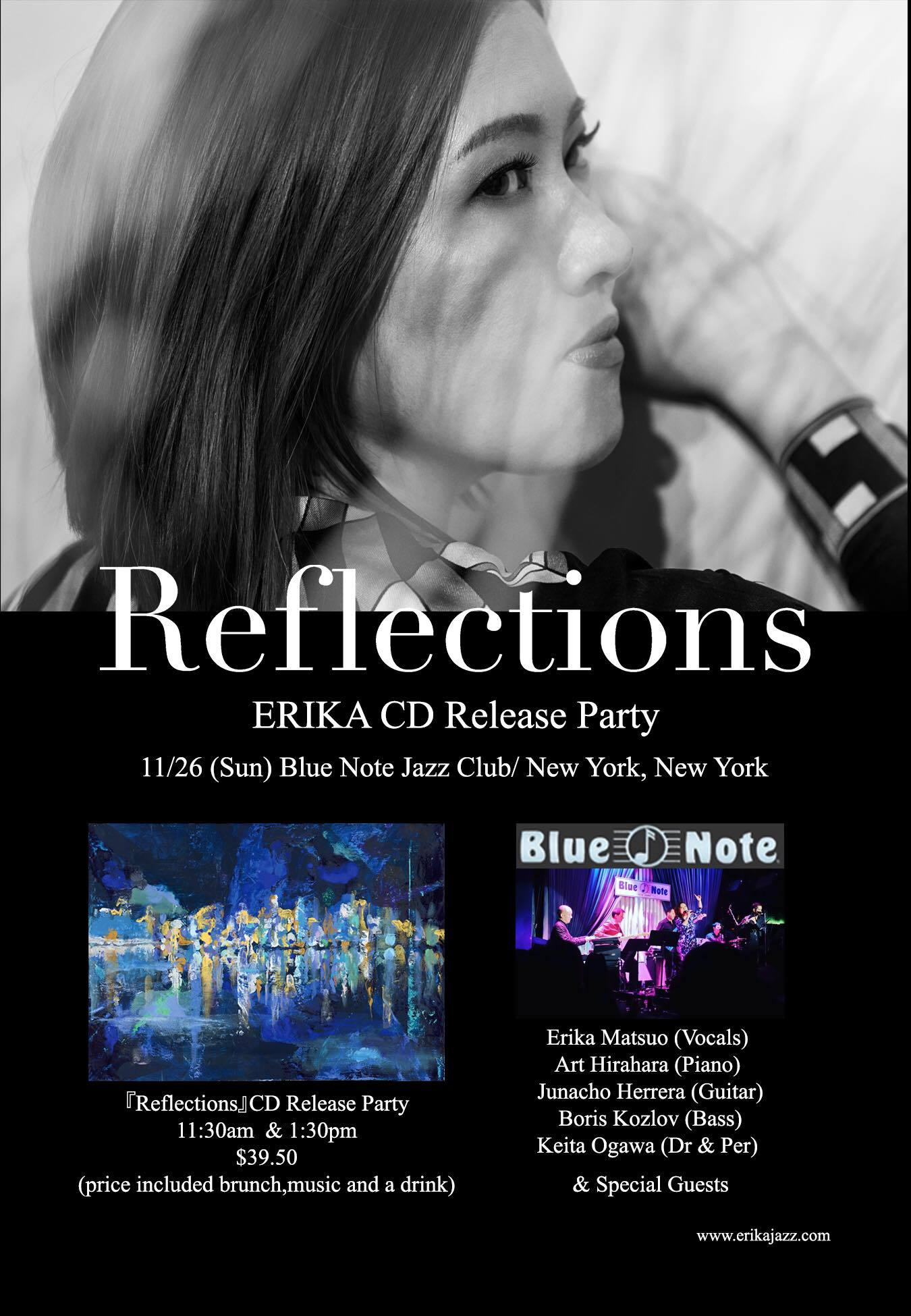 ERIKA New Album 『Reflections』CD Release Celebration at Blue Note New York _a0150139_06463523.jpg