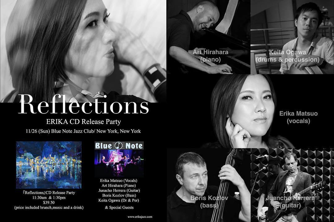 ERIKA New Album 『Reflections』CD Release Celebration at Blue Note New York _a0150139_06474614.jpg