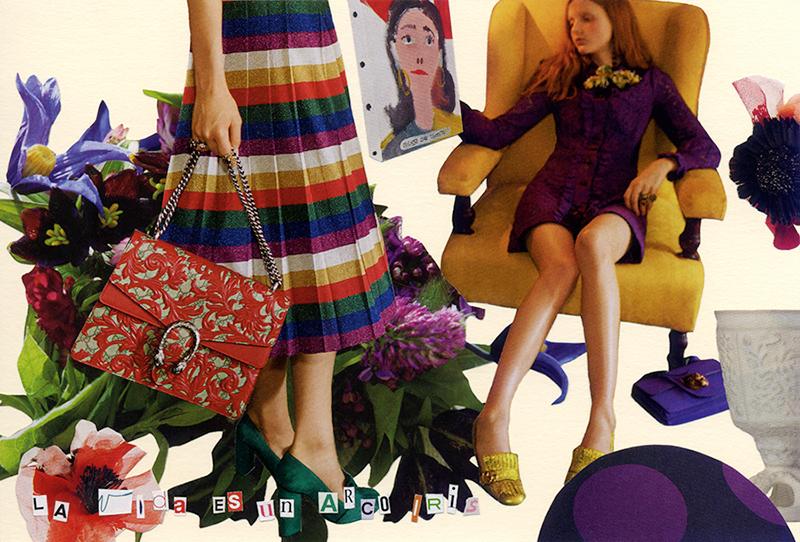 COLLAGE CARD #89 : LA vIda ES un ARcO IRis「虹色人生」_d0018646_21073040.jpg