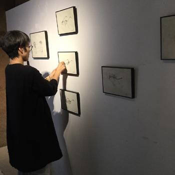 """Nutel exhibition """"ぼうしとめがねと男と女""""10日間の展示が終了しました。/ぎゃらりーマドベ_a0251920_12171442.jpg"""