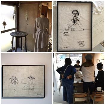 """Nutel exhibition """"ぼうしとめがねと男と女""""10日間の展示が終了しました。/ぎゃらりーマドベ_a0251920_12505600.jpg"""
