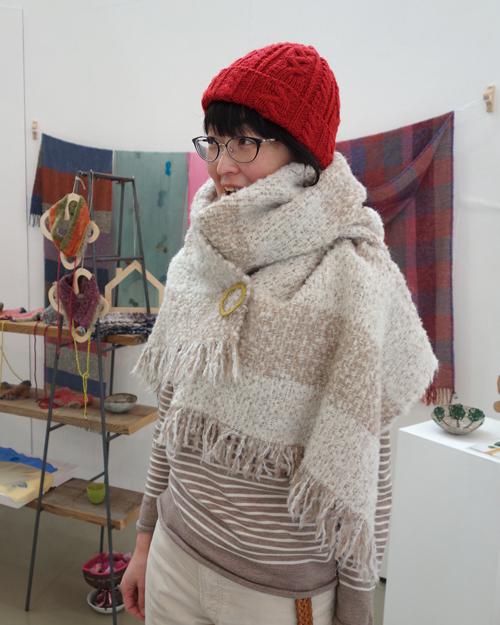 【三浦奈巳作品展〜縫って織ってできました】ふんわりあったか、軽さにびっくりなショール&ネックウォーマー