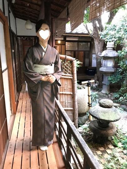 お煎茶の会・お客様の着物姿・伊藤若冲のカニの帯。_f0181251_14542665.jpg