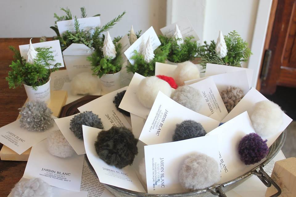 「JARDIN BLANC  noel exhibition 」クリスマスギフトはドードーナツで!_a0221457_12273734.jpg