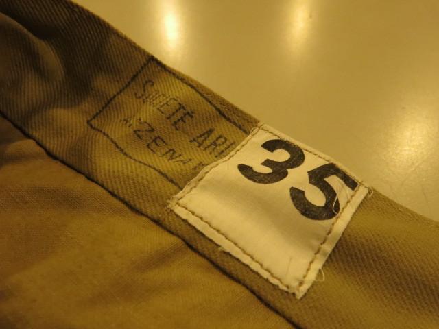 "\""DEAD STOCK 1960\'S FRENCH ARMY CHINO PANTS\""ってこんなこと。_c0140560_15480144.jpg"