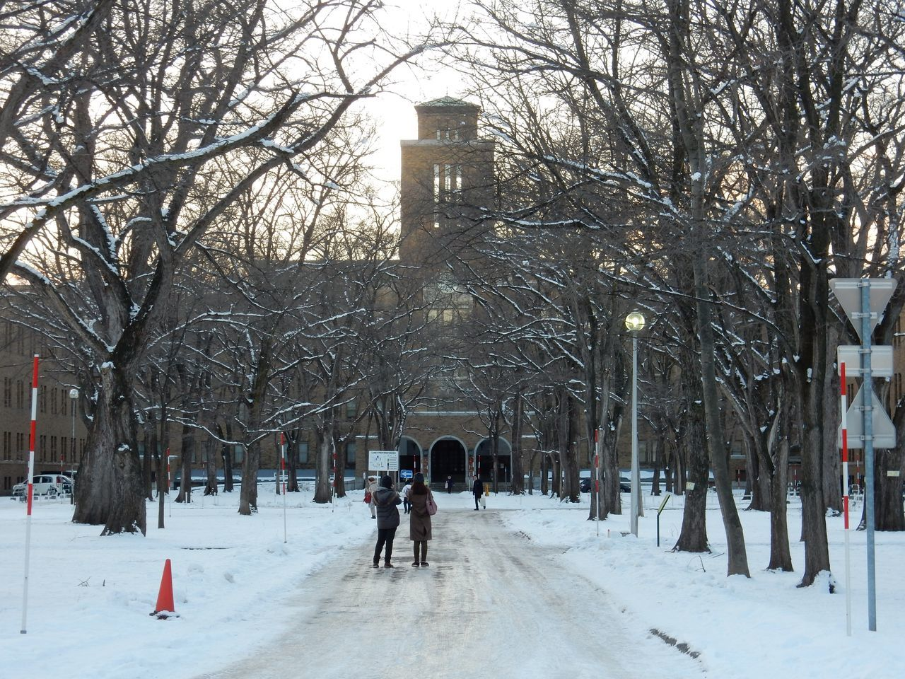 ほぼ真冬日の下、理学部へ_c0025115_22352159.jpg