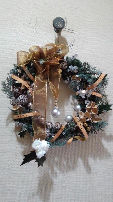 クリスマスリース_c0236632_15204120.jpg