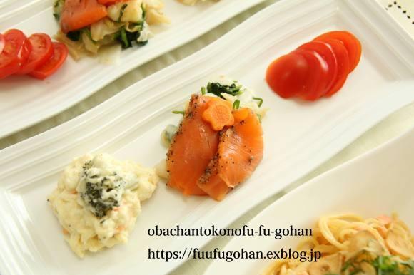 今日のおかえりランチは、鮭フレークパスタセット(^^♪_c0326245_13411930.jpg