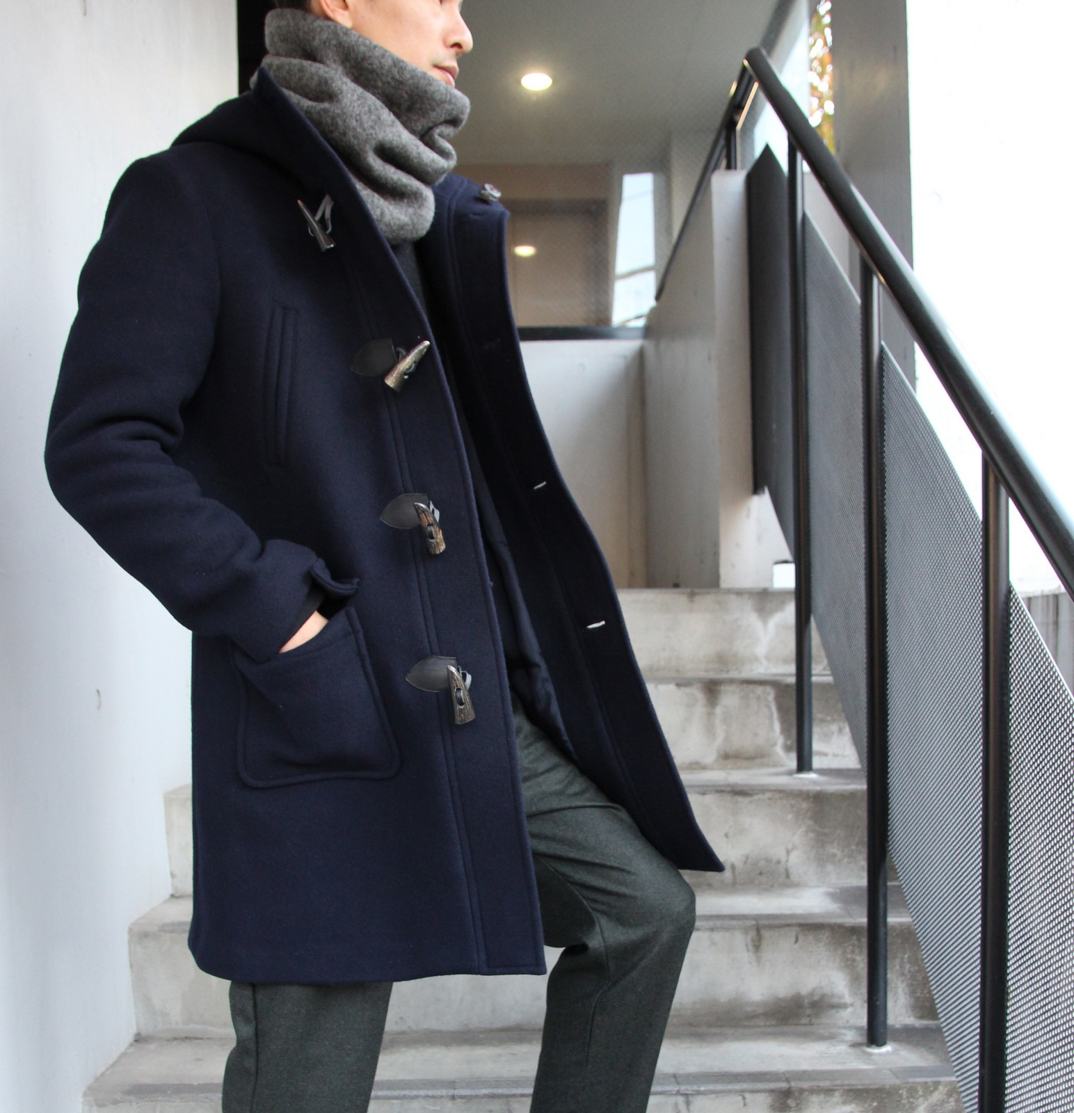 Wool Melton Duffel Coat_c0379477_19455851.jpg