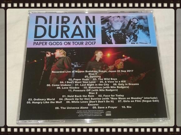 DURAN DURAN / PAPER GODS JAPAN TOUR 2017 ONE NIGHT IN TOKYO_b0042308_12215164.jpg