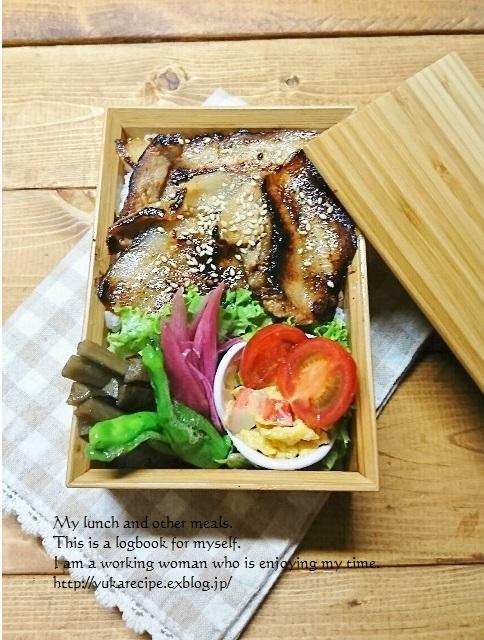 11.28 照り焼き豚丼弁当_e0274872_05411600.jpg