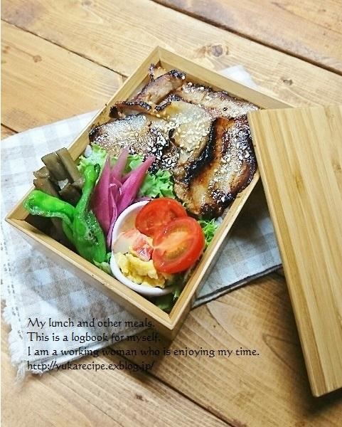 11.28 照り焼き豚丼弁当_e0274872_05412357.jpg