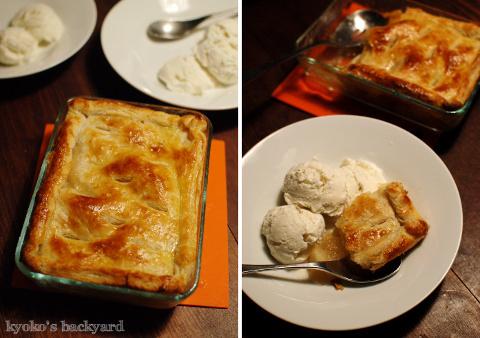 ターキー&ポテトのキャセロール。アップルパイ。なんちゃってラーメン(リメイク祭り その4)_b0253205_06363614.jpg