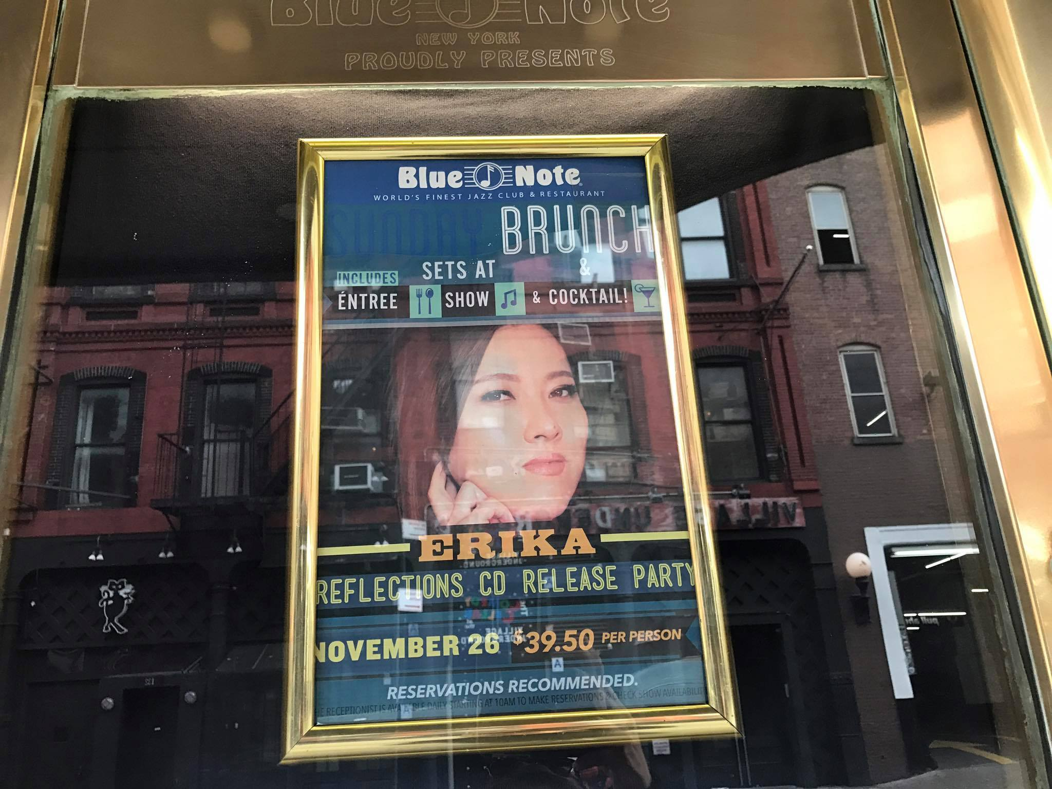 ERIKA 5th Album 『Reflections』CD Release Party at Blue Note New York_a0150139_01595177.jpg