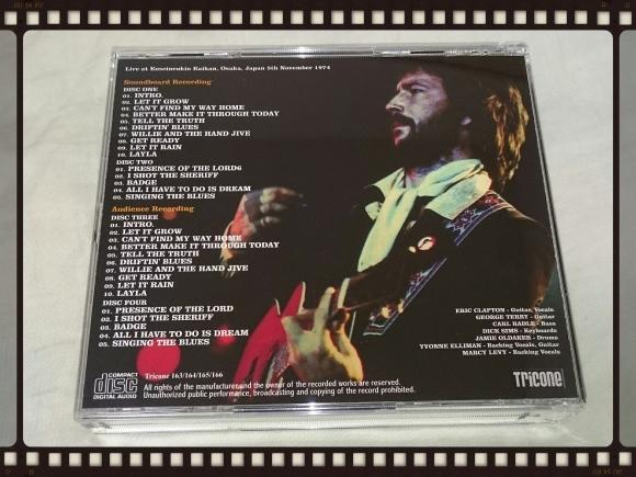 ERIC CLAPTON / OSAKA 1974 1ST NIGHT Audience Recording_b0042308_05371045.jpg