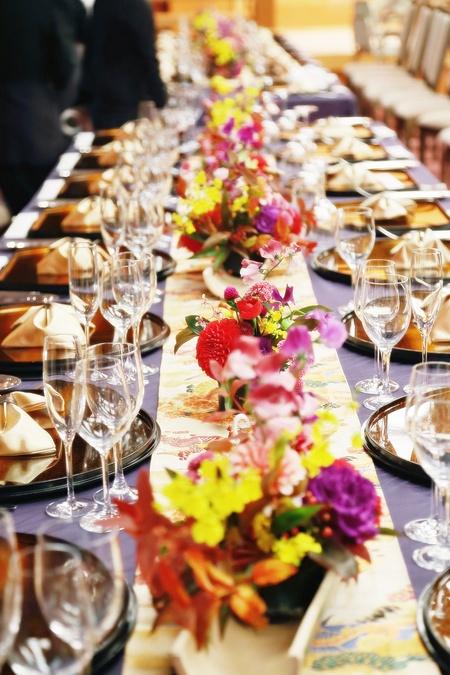秋の装花 ホテル雅叙園東京 鷲の間様へ 青竹の器に華やかに_a0042928_13291131.jpg