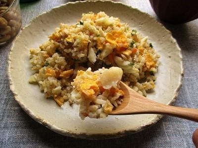 GABANスパイスの『カイエンペパー』で卵と白身魚のピリッとチャーハン♪_a0305576_23291068.jpg