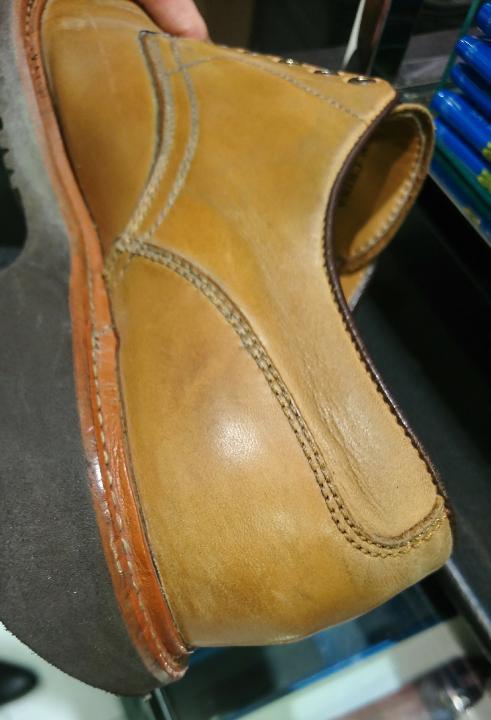 革靴、ラバーソールの黒ずみに!_b0226322_17122177.jpg
