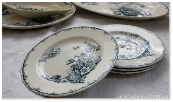 service de vaisselle リュネヴィル製ディナーウェアセット Luneville K&G フランスアンティーク_d0184921_16465601.jpg