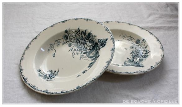 service de vaisselle リュネヴィル製ディナーウェアセット Luneville K&G フランスアンティーク_d0184921_17152883.jpg