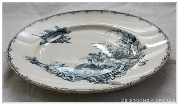 service de vaisselle リュネヴィル製ディナーウェアセット Luneville K&G フランスアンティーク_d0184921_17195905.jpg