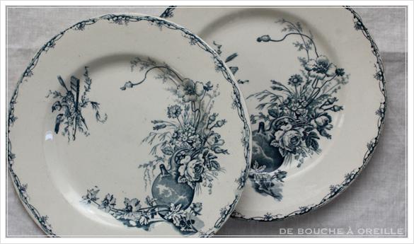 service de vaisselle リュネヴィル製ディナーウェアセット Luneville K&G フランスアンティーク_d0184921_17394763.jpg