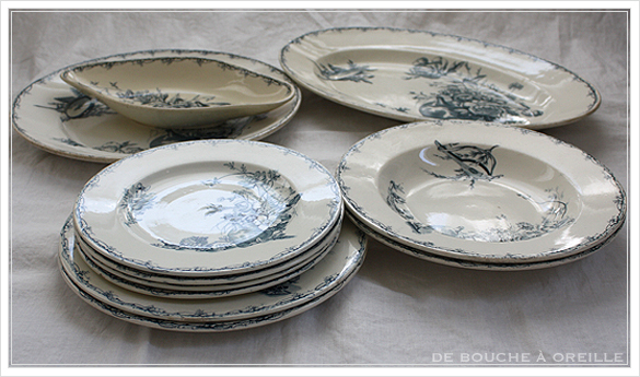 service de vaisselle リュネヴィル製ディナーウェアセット Luneville K&G フランスアンティーク_d0184921_17422946.jpg