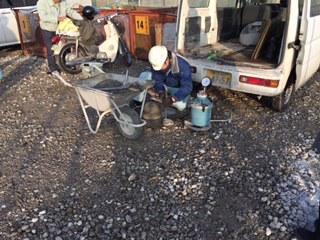 「終までおつとめのあるホーム」のコンクリート打設が始まりました。_d0174072_16374285.jpg