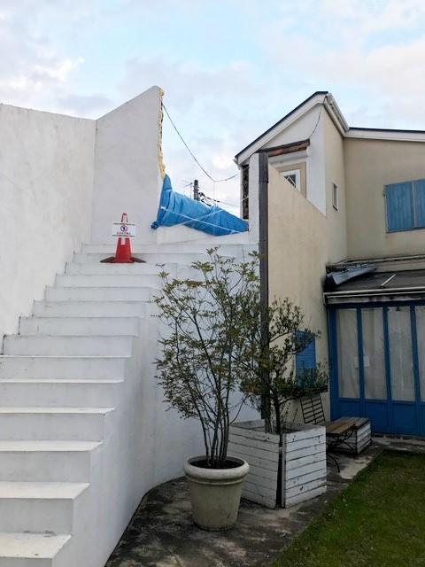 世田谷区エコロガーデンサニーサイド 外壁の破損_e0146493_15062069.jpg