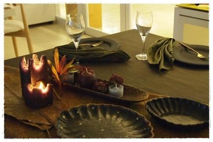 キャンドルで夜カフェ気分のテーブル ~インストラクタークラス_d0217944_22052629.jpg
