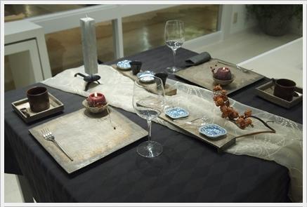 キャンドルで夜カフェ気分のテーブル ~インストラクタークラス_d0217944_22060151.jpg