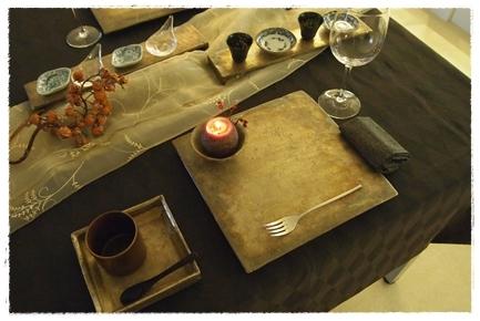 キャンドルで夜カフェ気分のテーブル ~インストラクタークラス_d0217944_22061153.jpg
