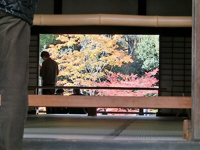 藤田八束の鉄道写真@京都の秋・・・天龍寺を訪ねて、冠雪した青森の霊峰岩木山_d0181492_08310356.jpg