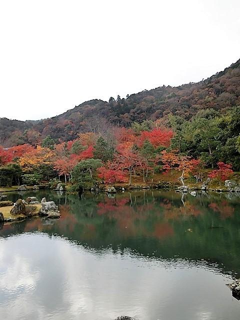 藤田八束の鉄道写真@京都の秋・・・天龍寺を訪ねて、冠雪した青森の霊峰岩木山_d0181492_08330564.jpg
