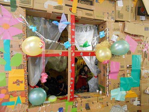 くわナさんとダンボールでおうちを作って遊ぼう_d0139575_23241551.jpg