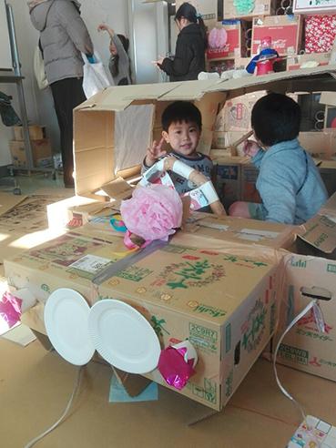 くわナさんとダンボールでおうちを作って遊ぼう_d0139575_23255186.jpg