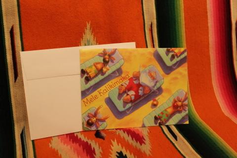 常夏ハワイより届いた「クリスマスカード」_f0191324_08002905.jpg