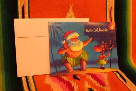 常夏ハワイより届いた「クリスマスカード」_f0191324_08005576.jpg